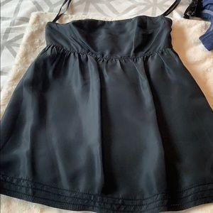 Strapless silk top